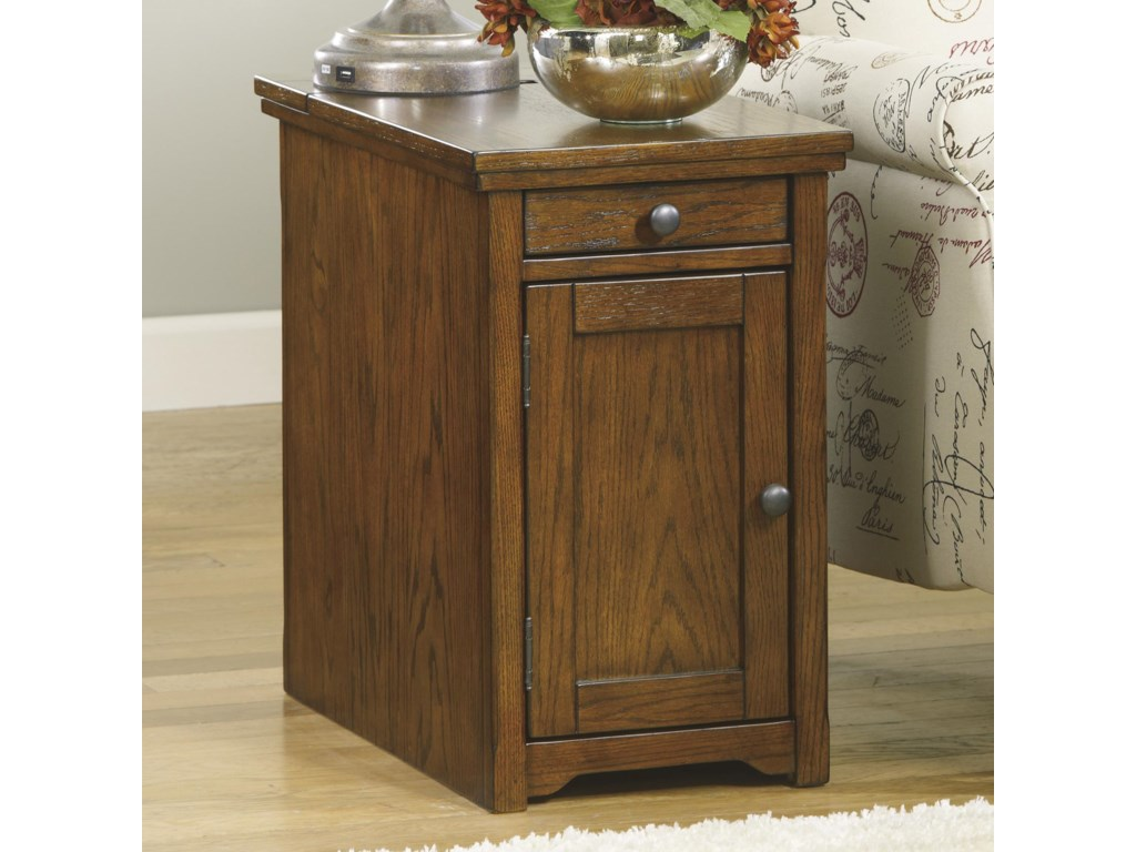Signature Design by Ashley Recliner FriendChimerin Chairside End Table