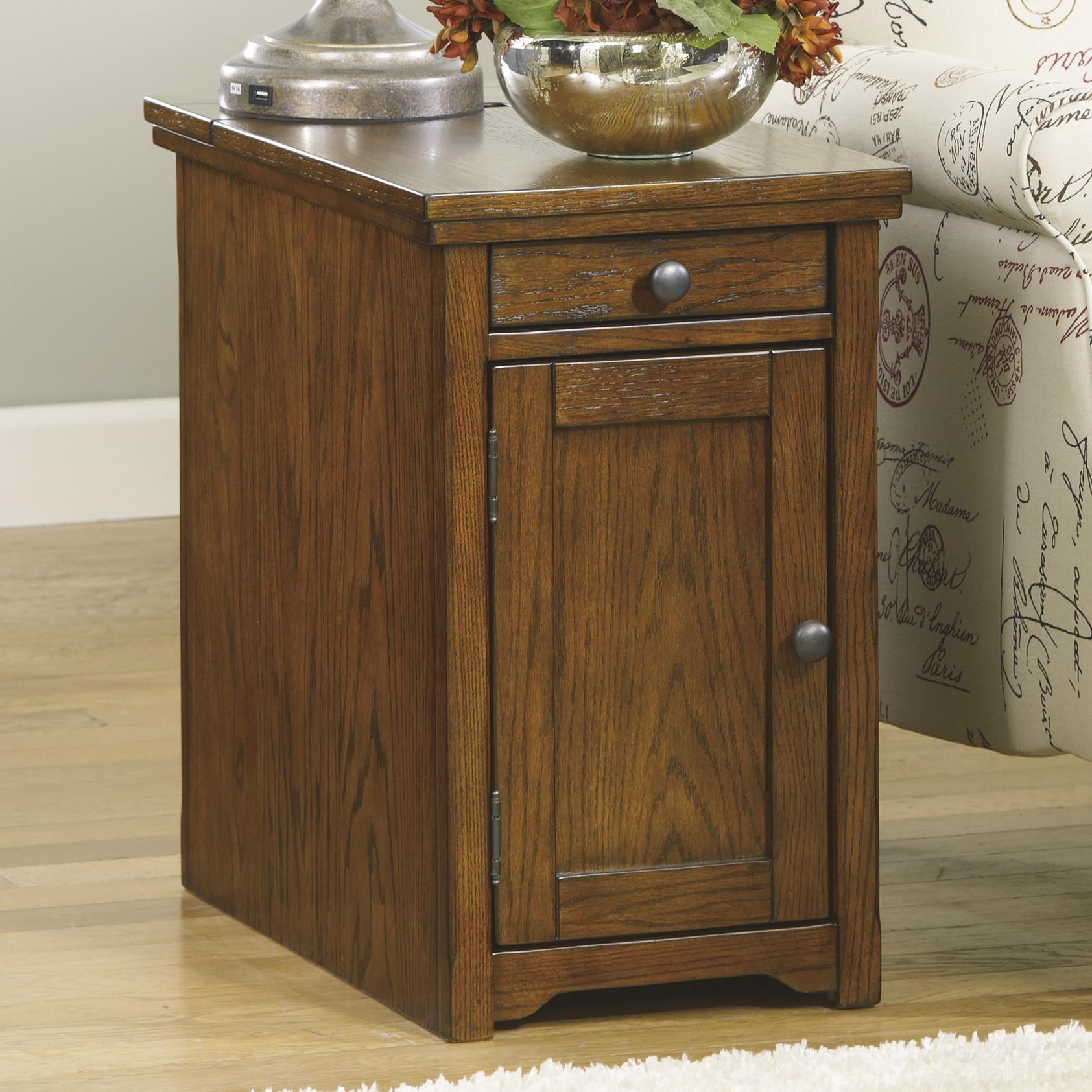 prodigious Ashley End Table With Power Part - 2: Signature Design by Ashley LaflornChair Side End Table ...