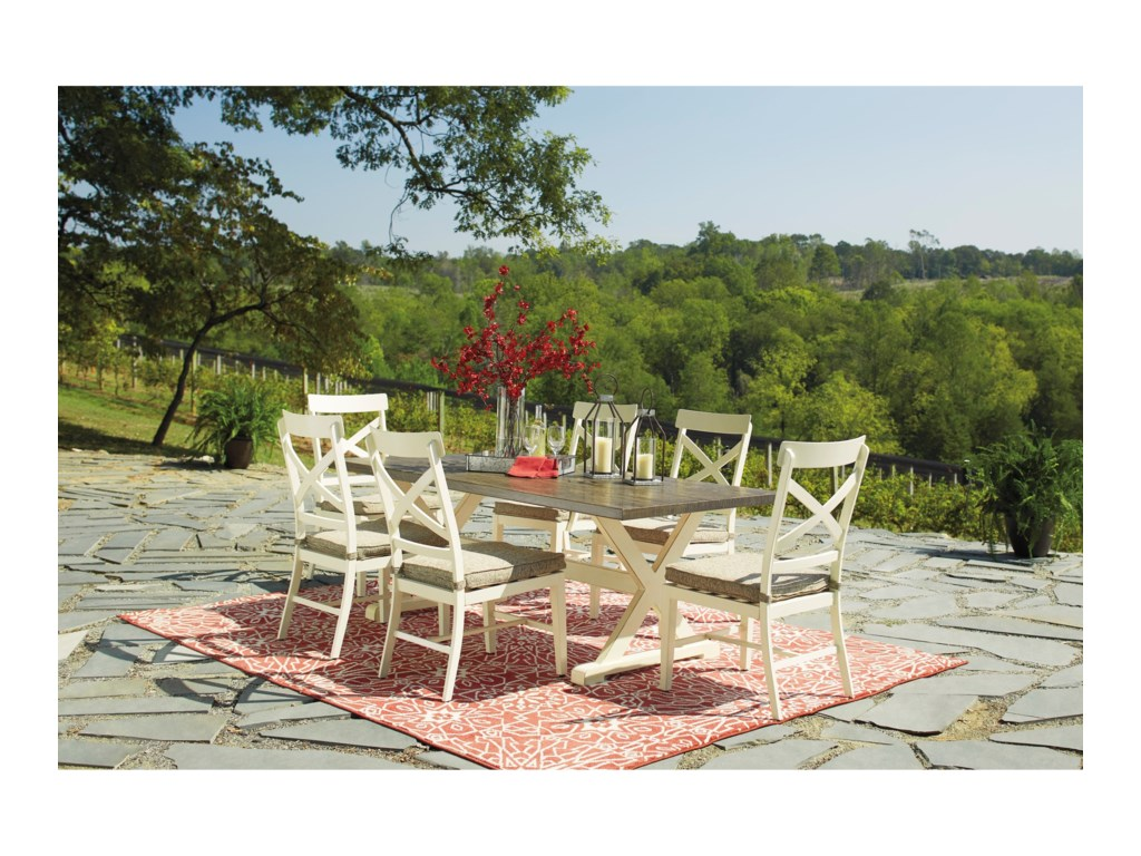 Signature Design by Ashley Preston Bay7-Piece Outdoor Dining Set