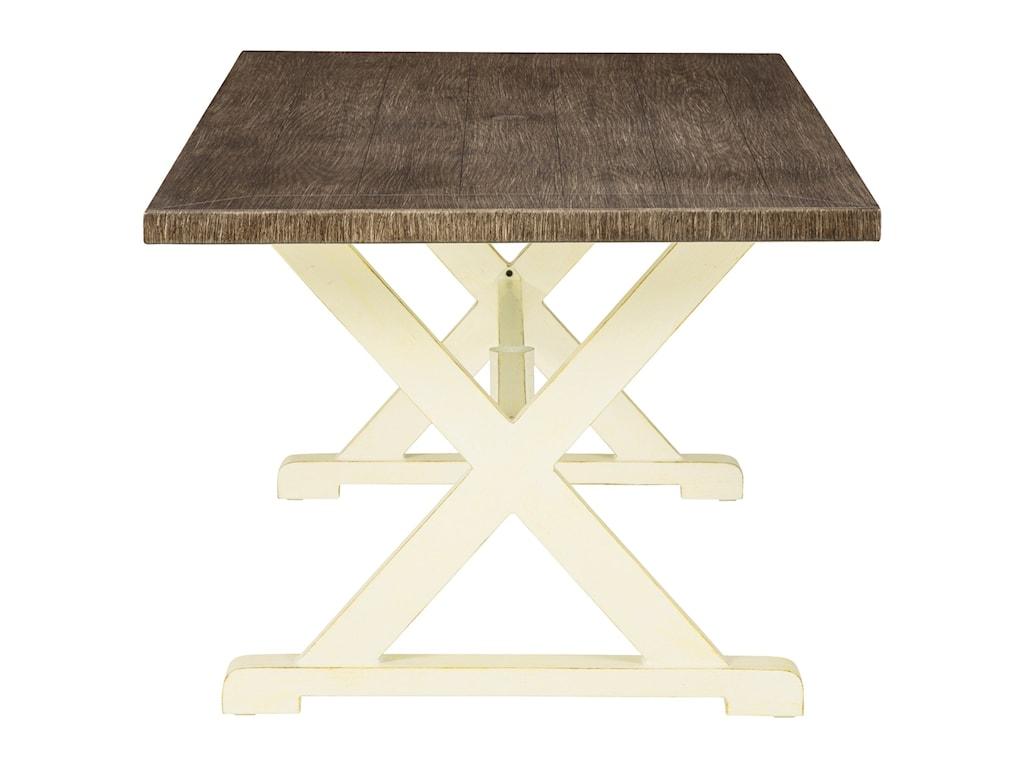 Signature Design by Ashley Preston BayRectangular Dining Table w/ Umbrella Option