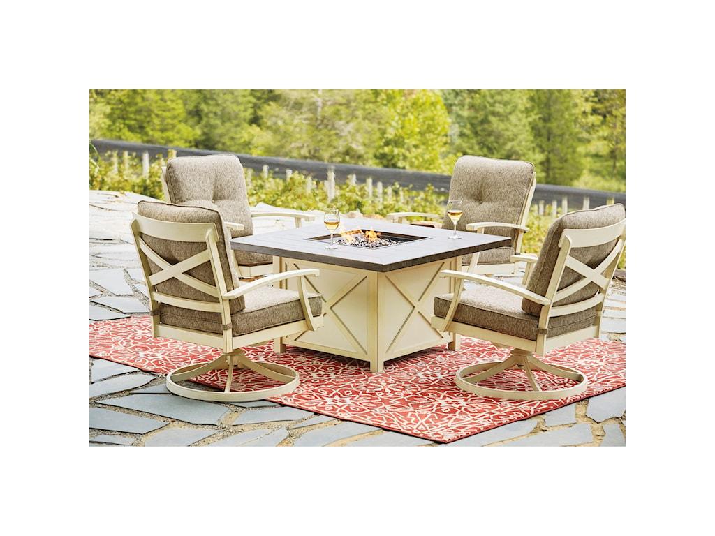 Signature Design by Ashley Preston BayOutdoor Firepit Table Set
