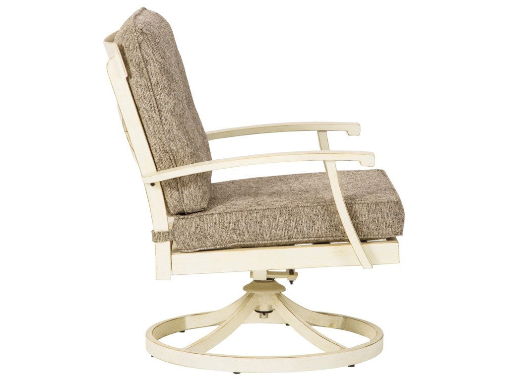 Signature Design by Ashley Preston BaySet of 2 Swivel Lounge Chairs with Cushions