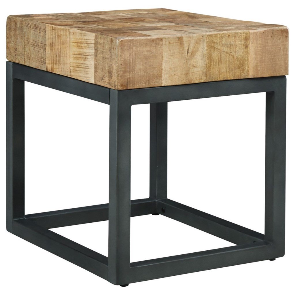 Signature Design by Ashley Prinico Chair Side End Table with Mango