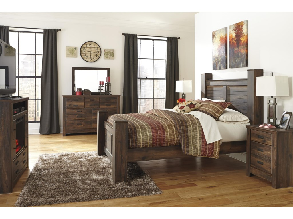 Signature Design by Ashley QuindenQueen Poster Bed