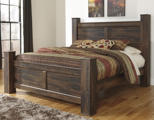 Amazing Signature Design by Ashley Quinden Rustic King Poster Bed In 2019 - Popular rustic king size bedroom sets