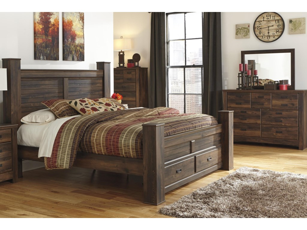 Signature Design by Ashley Quinden King Bed, Dresser and Mirror ...