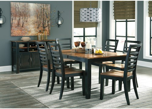 Signature Design by Ashley Quinley Casual Dining Room Group ...