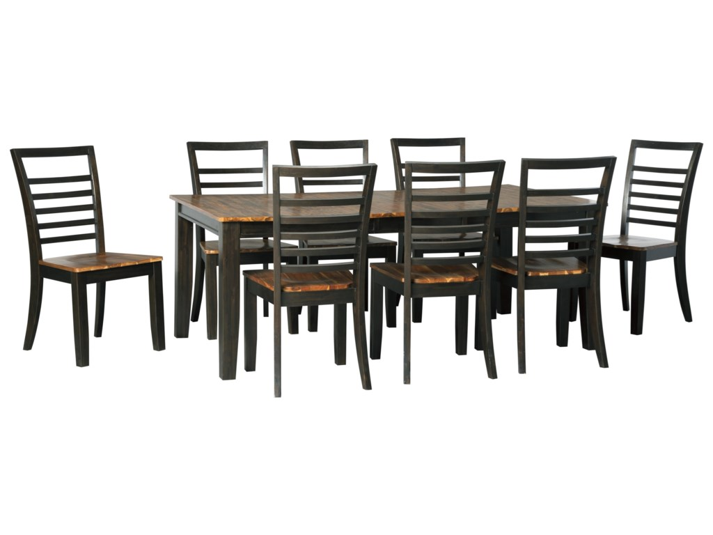 Ashley (Signature Design) Quinley9-Piece Dining Table and Chair Set