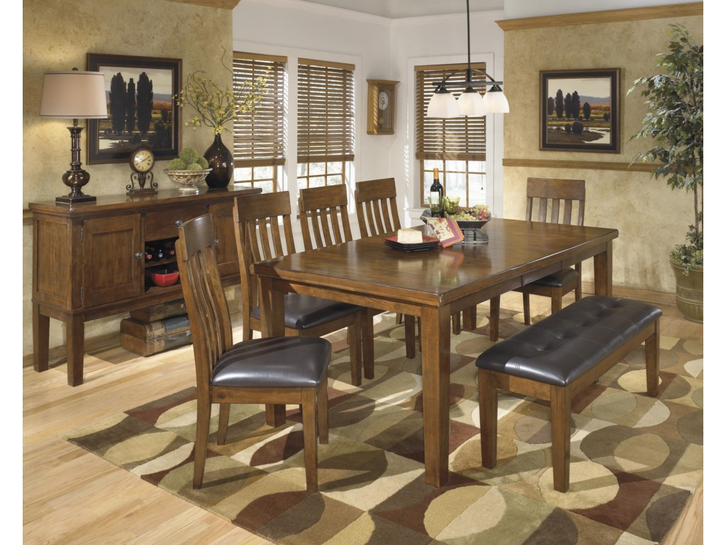 Shown with Server, Dining Table and Slat-Back Chairs