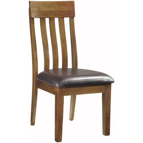 Signature Design by Ashley Ralene Casual Upholstered Slat-Back Dining Side Chair