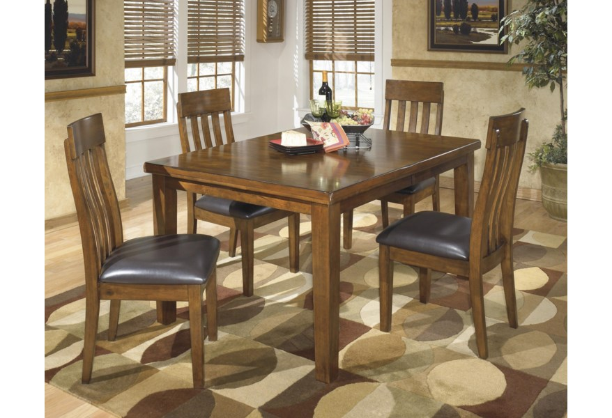 Ashley Signature Design Ralene D594 35 4x01 Casual 5 Piece Dining Set With Butterfly Extension Leaf O Dunk O Bright Furniture Dining 5 Piece Sets