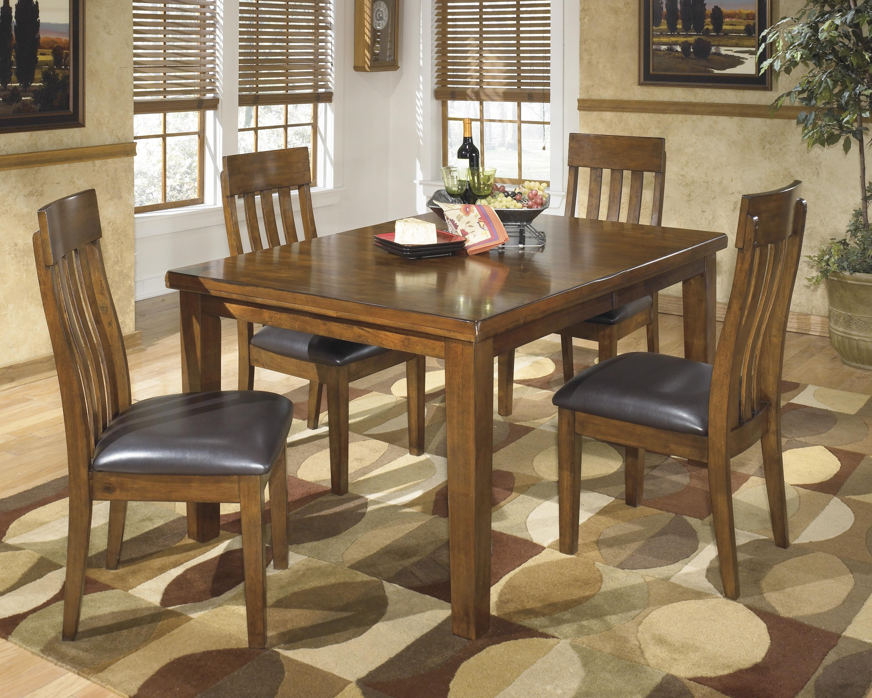 Exceptionnel Signature Design By Ashley Ralene Casual 5 Piece Dining Set With Butterfly  Extension Leaf