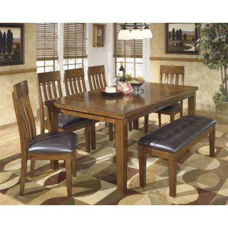 7-Pc Dining Set with Bench