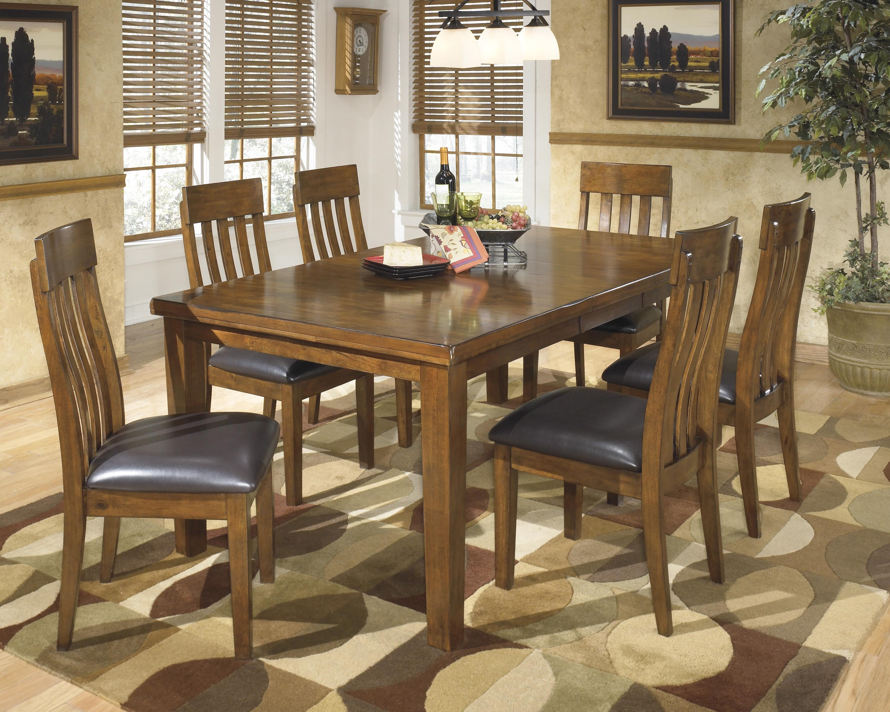 signature design by ashley ralene casual 7 piece dining set with butterfly extension leaf royal furniture dining 7 or more piece sets