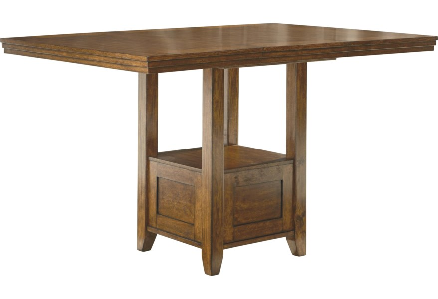 Ralene Rectangular Dining Room Counter Ext Table