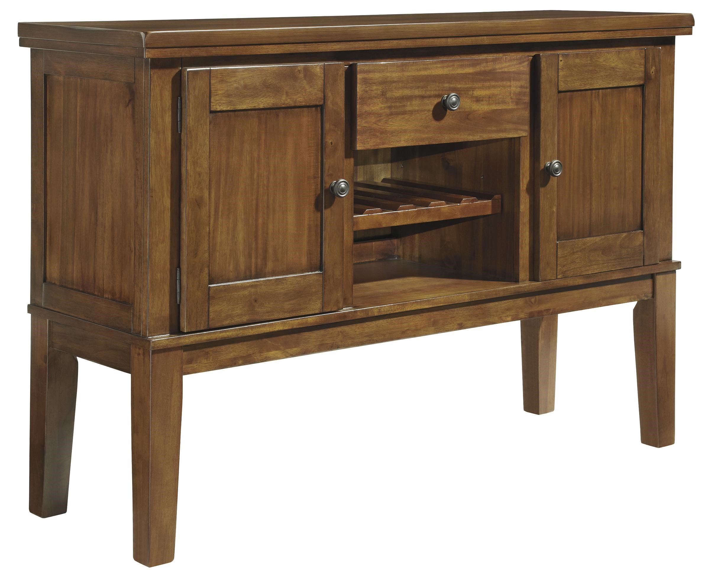 Casual Dining Room Server With Wine Rack