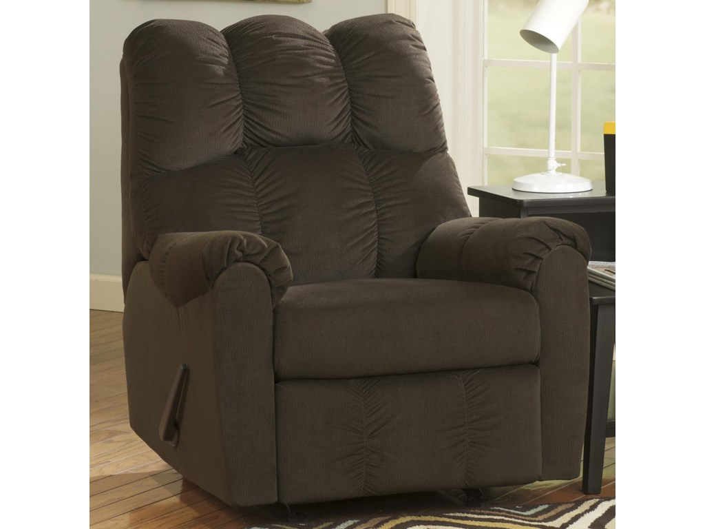 Signature Design By Ashley Raulo Chocolate 1750025 Rocker Recliner
