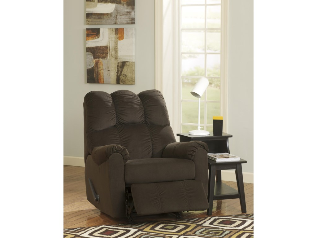 Signature Design by Ashley Raulo - ChocolateRocker Recliner