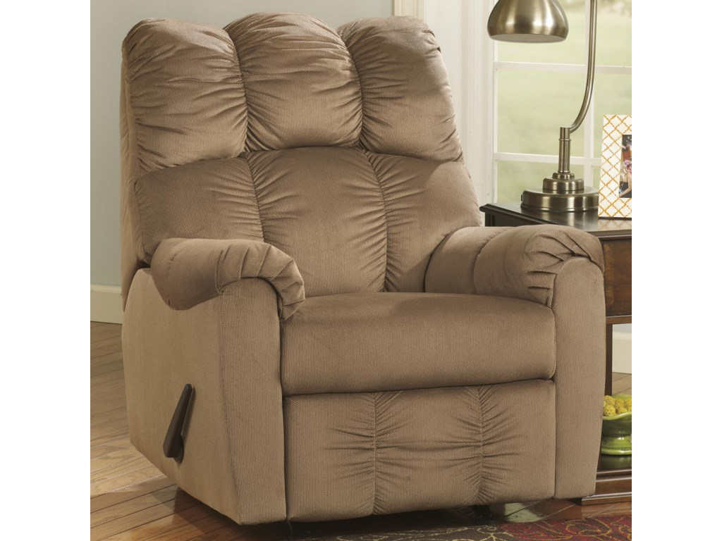 Signature Design by Ashley Raulo - MochaRocker Recliner