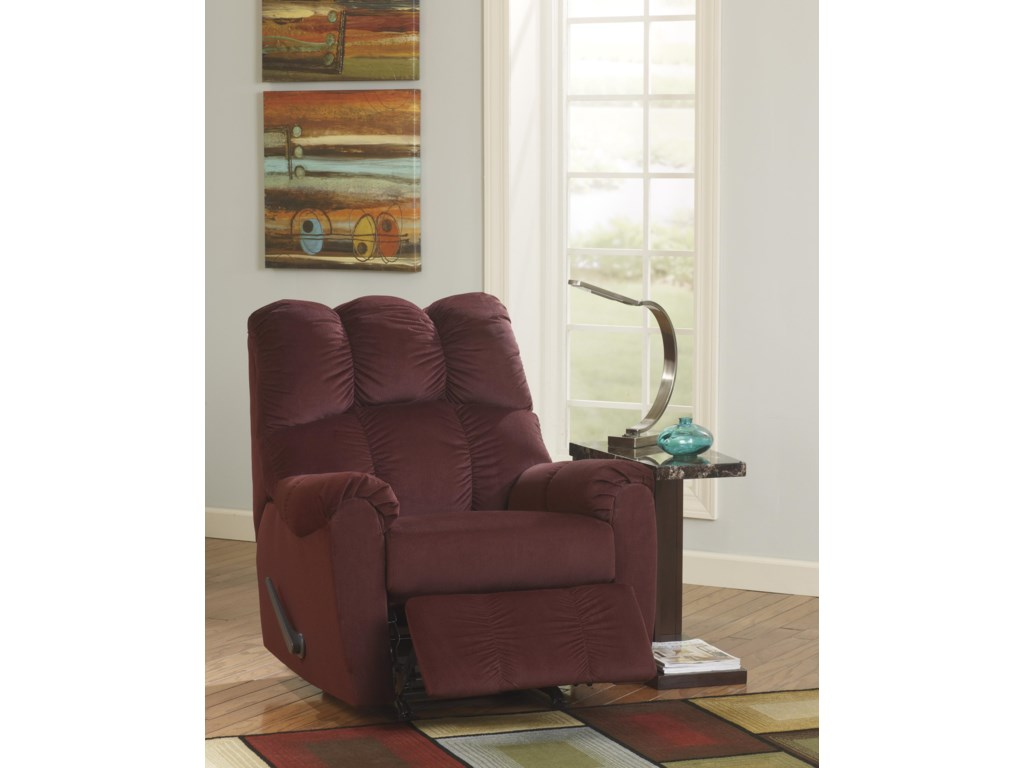 Signature Design by Ashley Raulo - BurgundyRocker Recliner