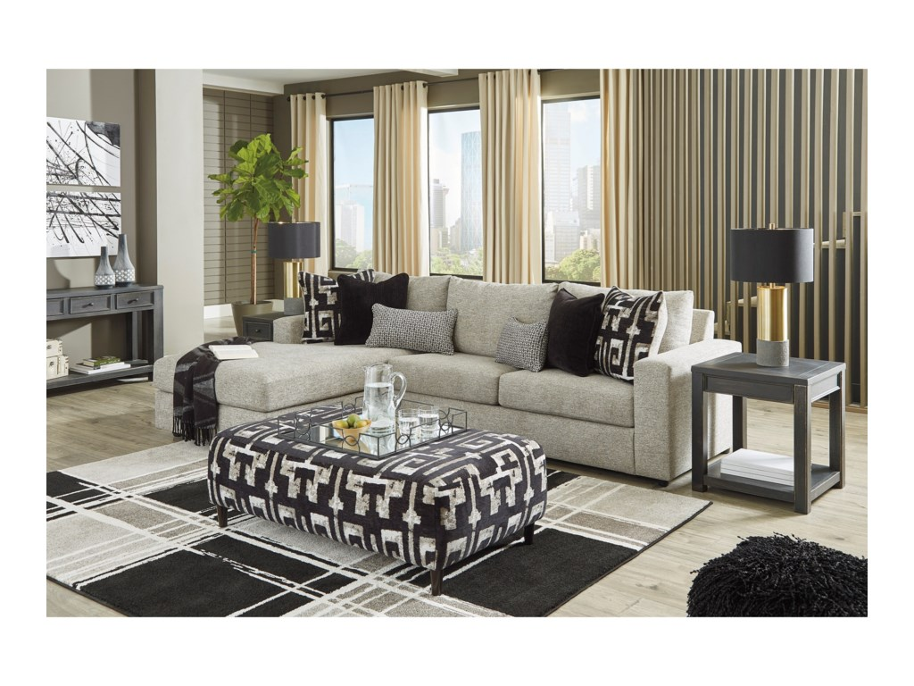 Signature Design by Ashley RavenstoneLiving Room Group w/ Sofa Bed