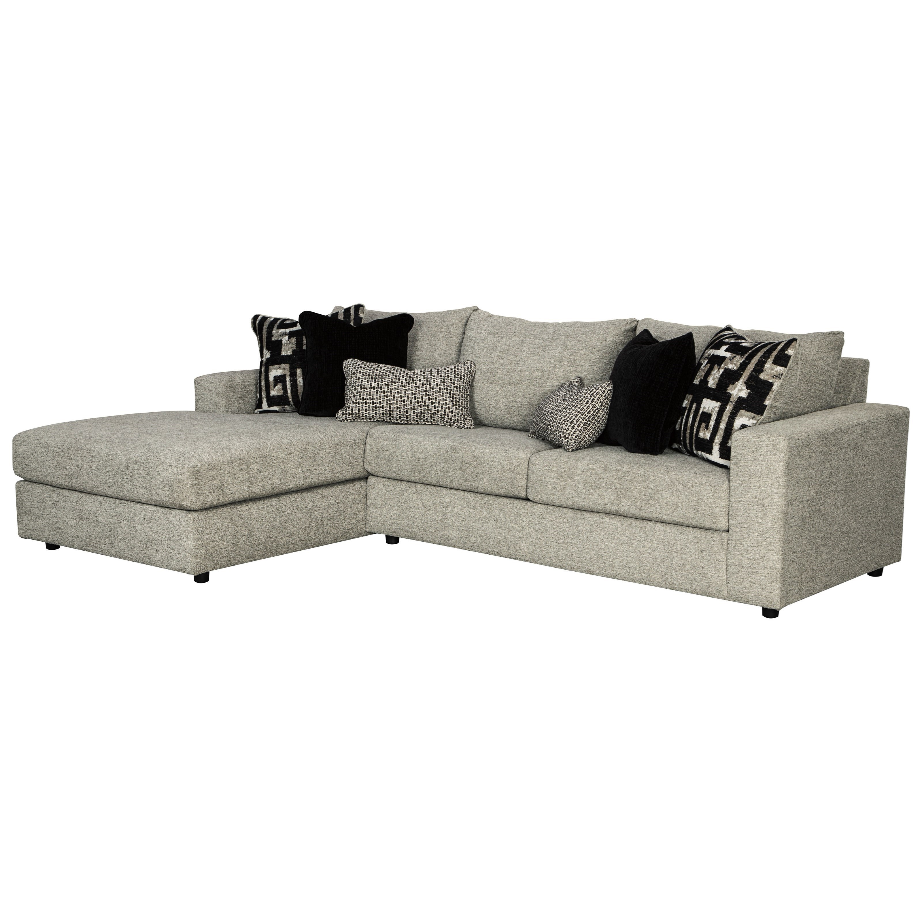 Signature Design By Ashley Ravenstone Contemporary 3 Seat Sectional Sofa With Laf Chaise Conlin S Furniture Sectional Sofas