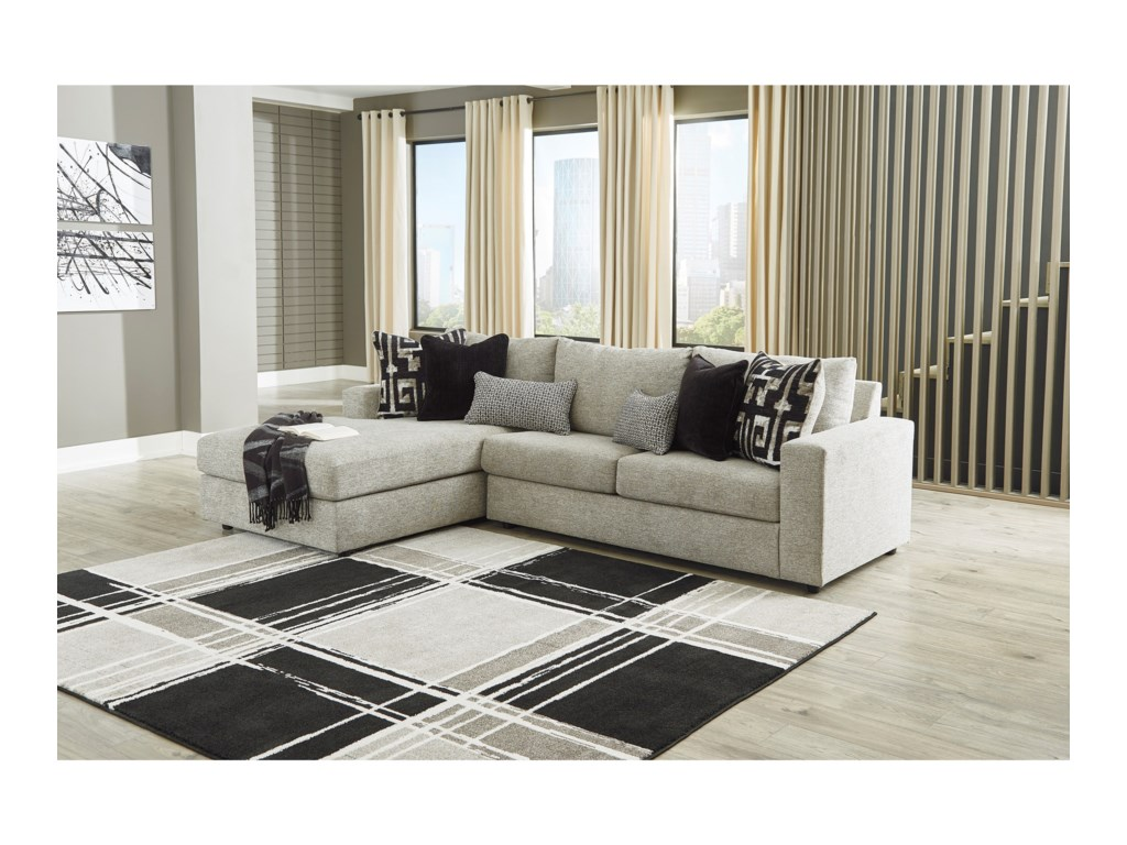 Signature Design by Ashley Ravenstone3-Seat Sectional Sofa w/ LAF Chaise