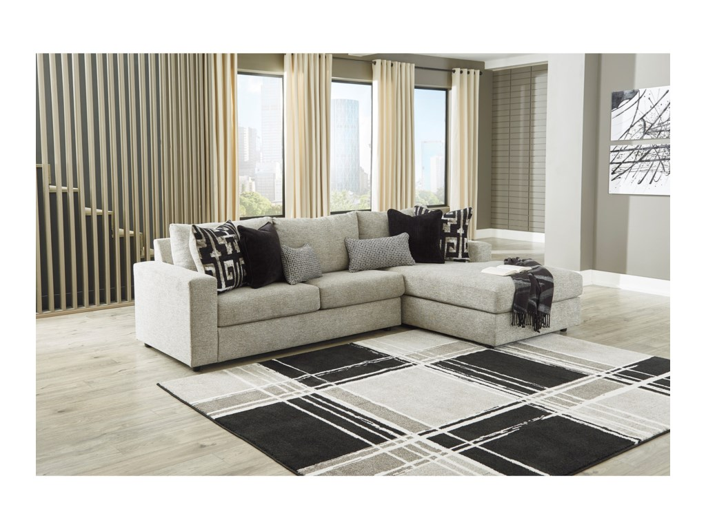 Signature Design by Ashley Ravenstone3-Seat Sectional Sofa w/ RAF Chaise