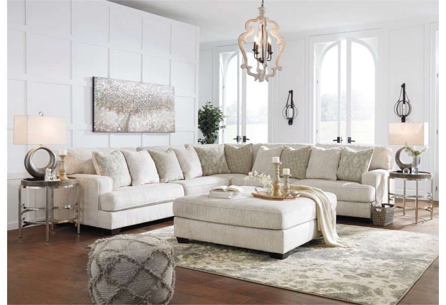 Signature Design By Ashley Rawcliffe Living Room Group Darvin Furniture Stationary Groups
