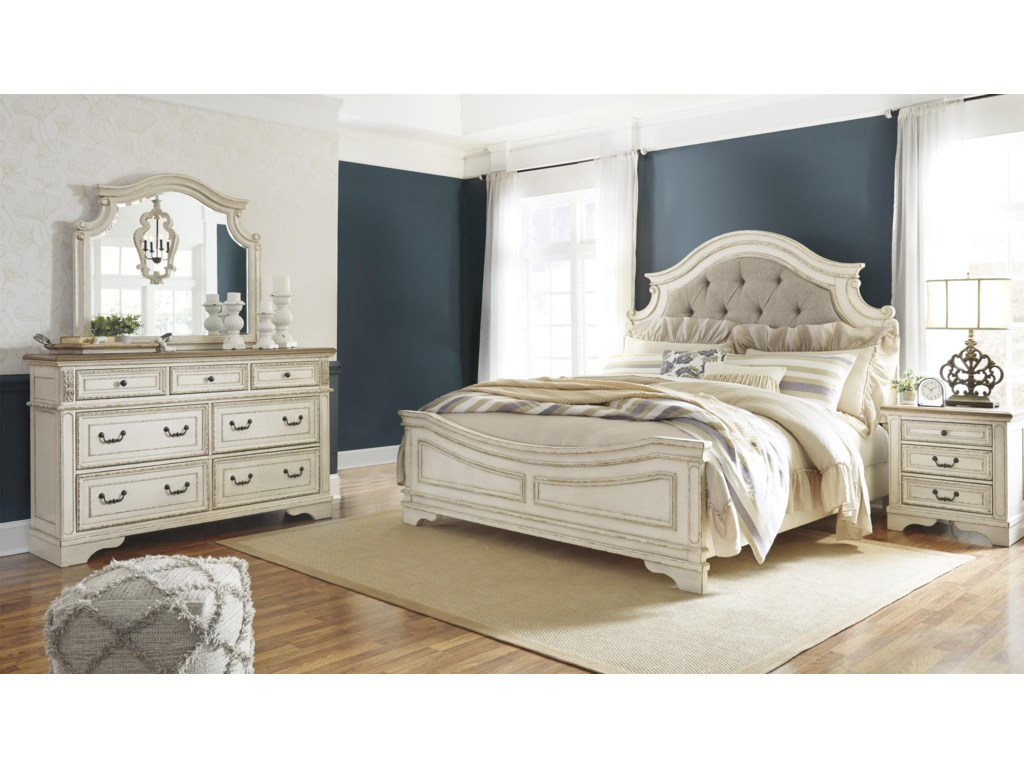 Signature Design by Ashley RealynKing UPH Panel Bed Package
