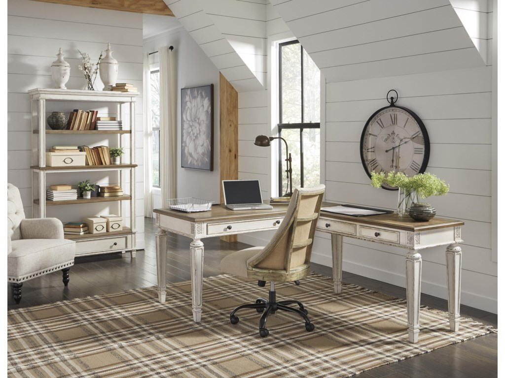 Signature Design by Ashley RealynHome Office Desk and Return, Office Chair an