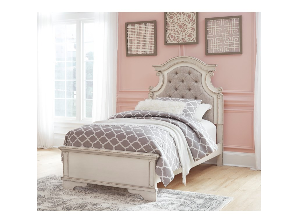 Signature Design by Ashley RealynTwin Upholstered Panel Bed