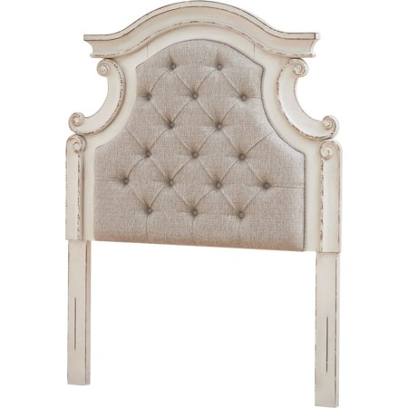 Twin Upholstered Panel Headboard