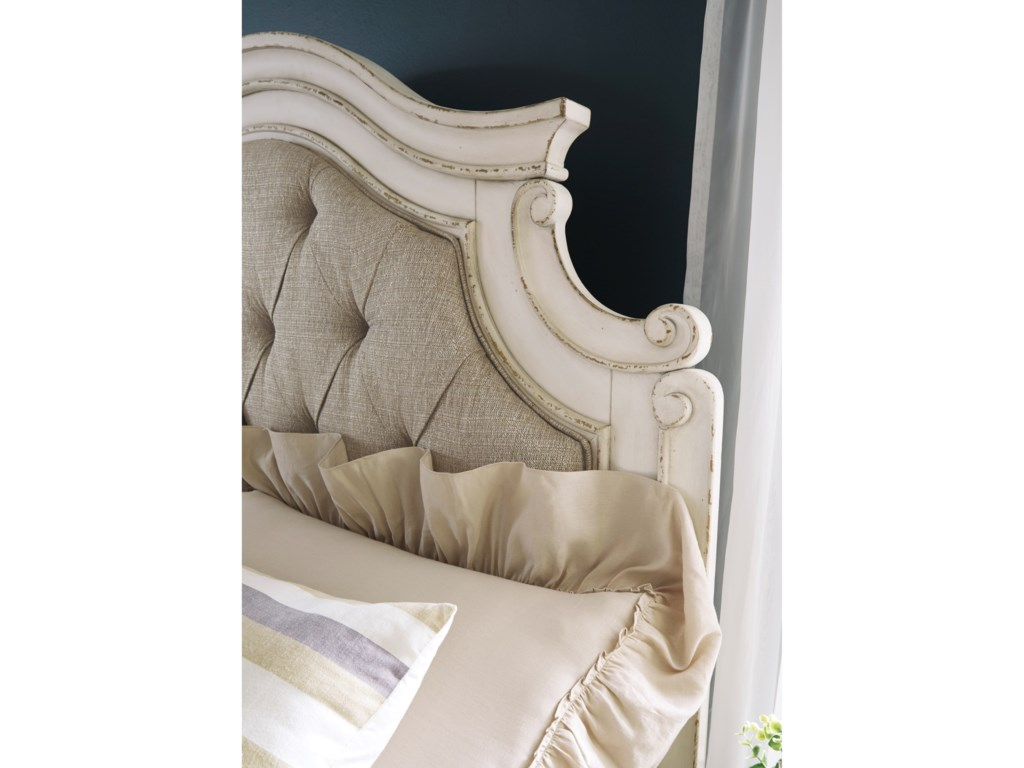 ROOMS # 3 Collection RealynKing Upholstered Panel Bed