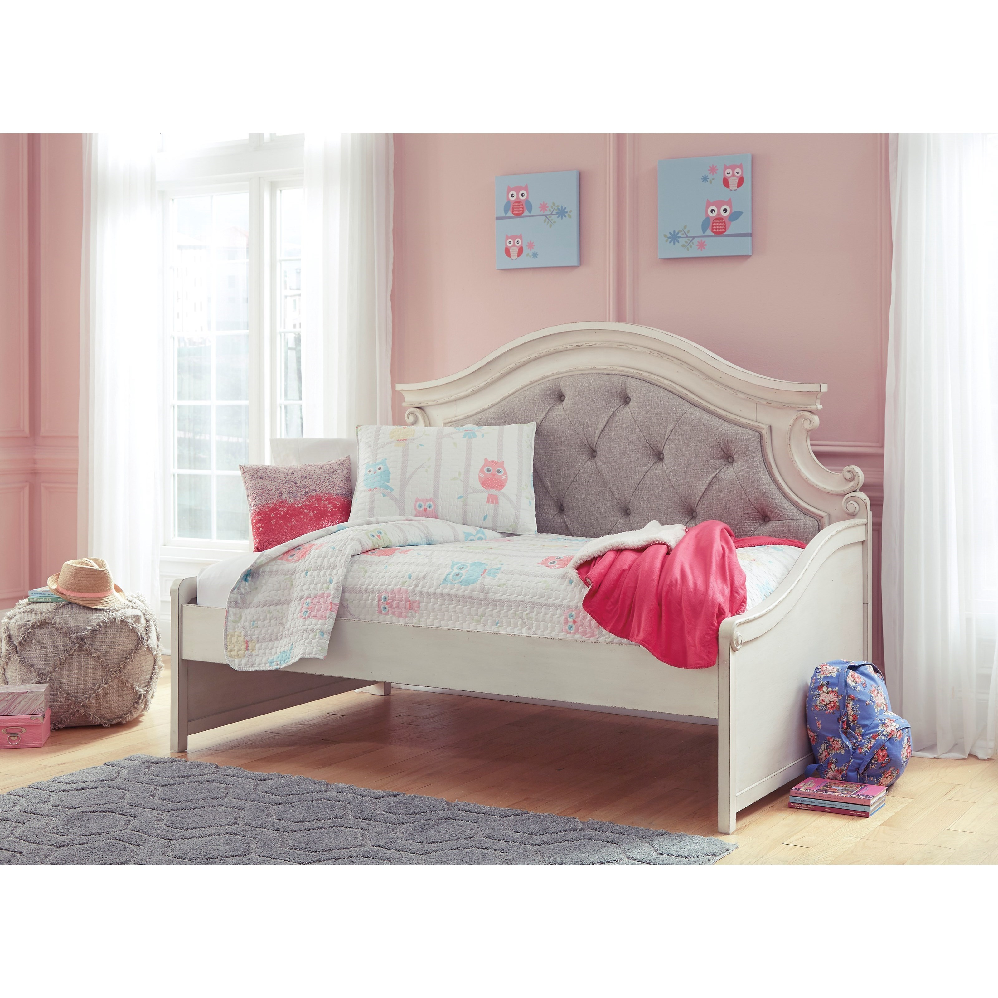 - Signature Design By Ashley Realyn Twin Upholstered Day Bed Royal