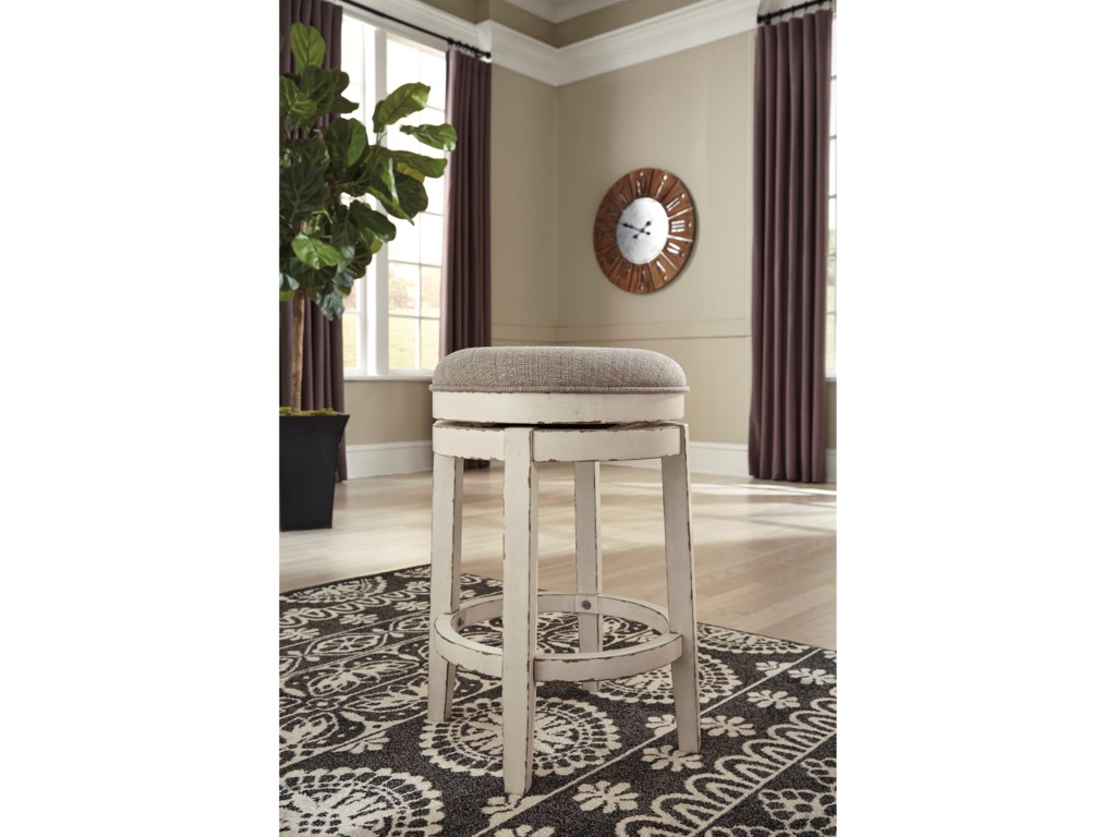 Signature Design by Ashley RealynUpholstered Swivel Stool