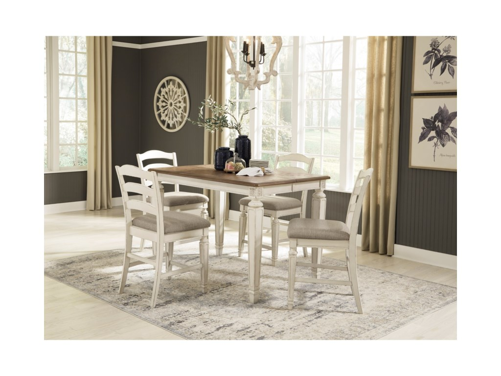 Signature Design by Ashley Realyn5-Piece Counter Extension Table Set