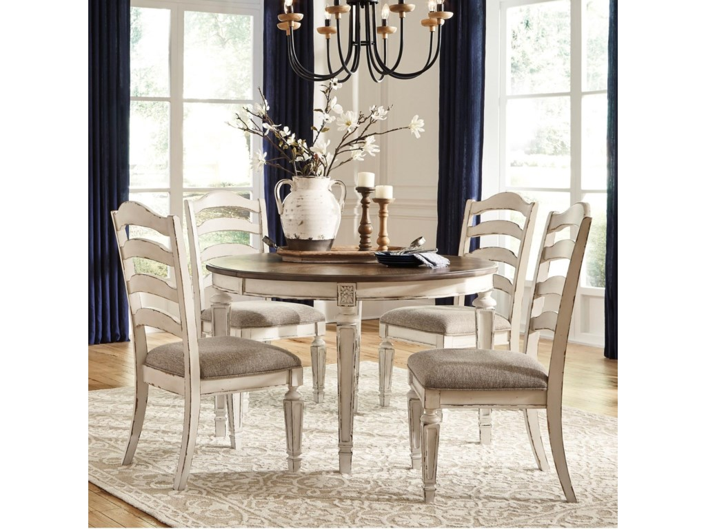 Signature Design by Ashley Realyn5 Piece Table and Chair Set