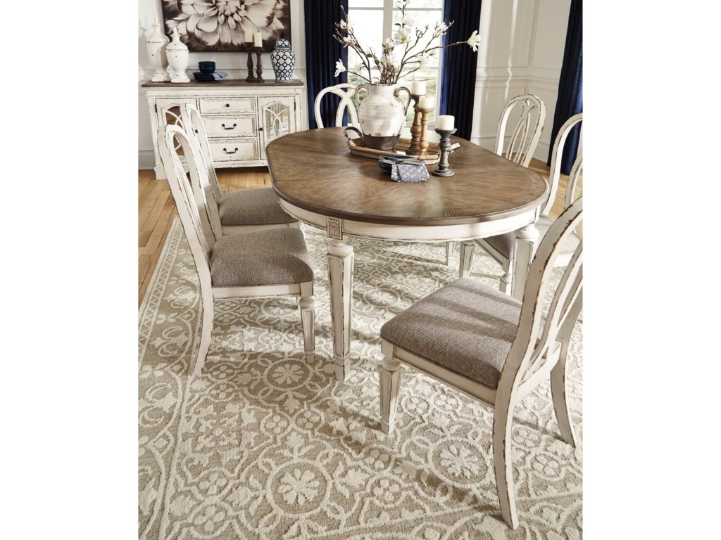 Signature Design by Ashley Realyn7-Piece Table and Chair Set