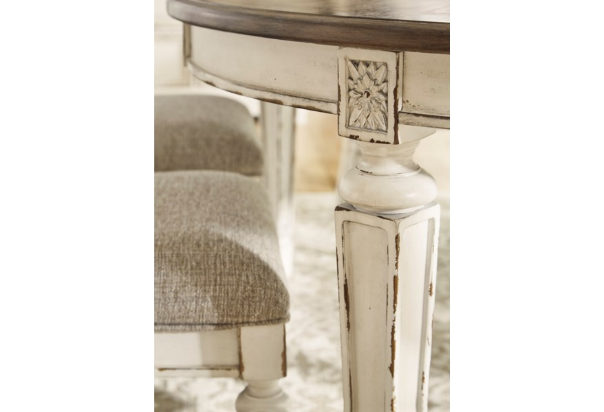 Signature Design By Ashley Realyn Oval Dining Table Homeworld Furniture Dining Tables