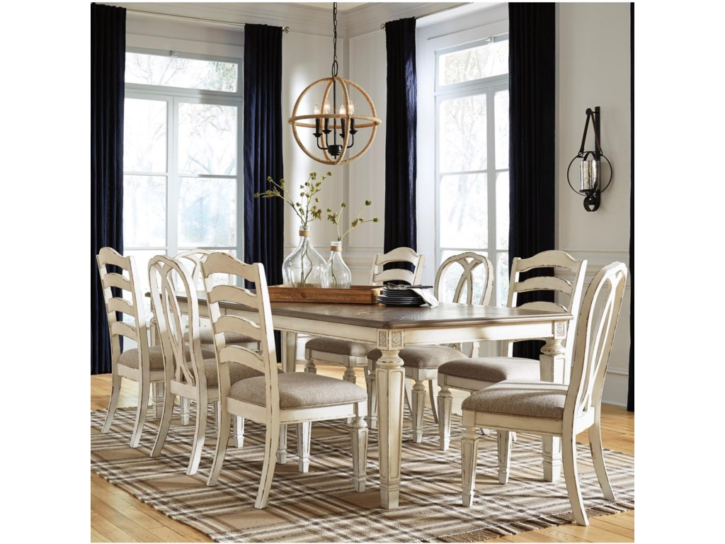 Signature Design by Ashley Realyn9 Piece Table and Chair Set