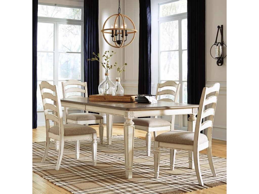Signature Design by Ashley Realyn5-Piece Table and Chair Set