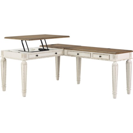 L Shape Desk with Lift Top