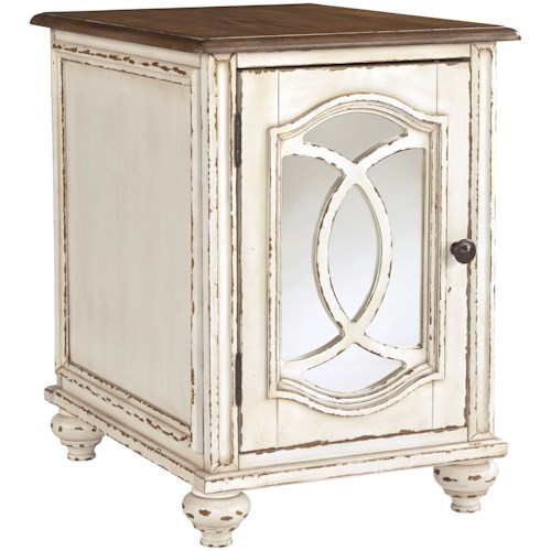 Signature Design by Ashley Realyn Two-Tone Chairside End Table