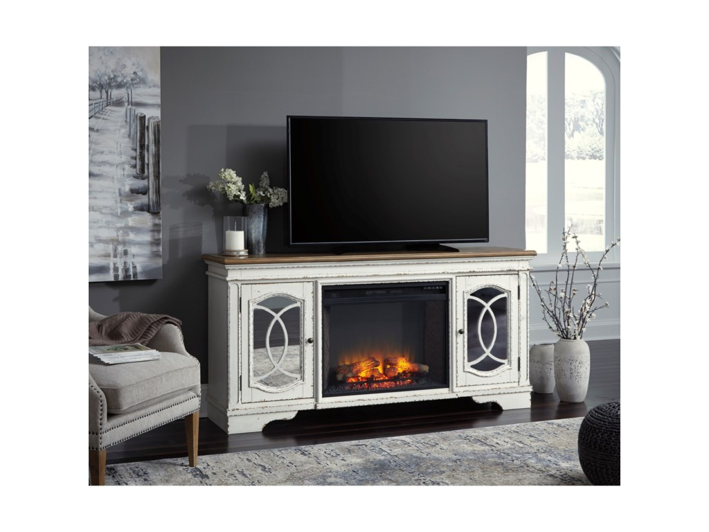 Signature Design by Ashley ClaireTV Stand with Fireplace Insert