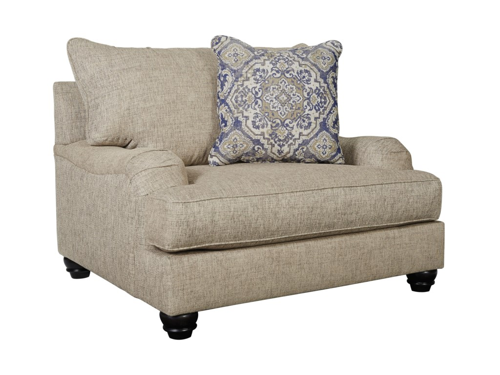 Signature Design by Ashley ReardonChair and a Half and Ottoman