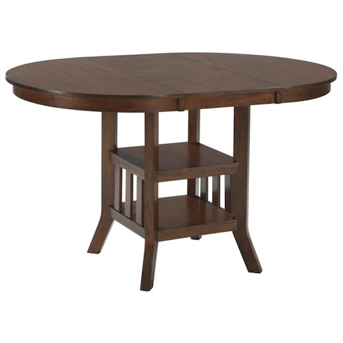 Signature Design by Ashley Renaburg Oval Dining Room Counter ...