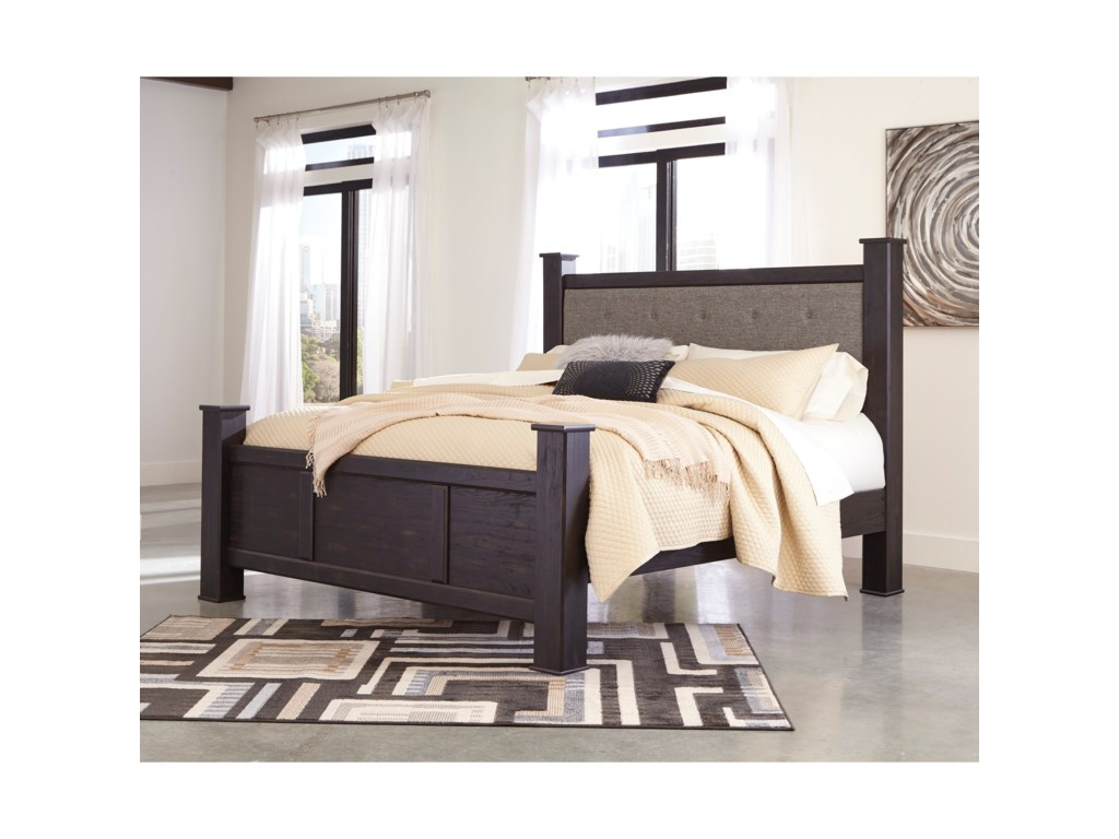 Signature Design by Ashley ReylowKing Upholstered Poster Bed