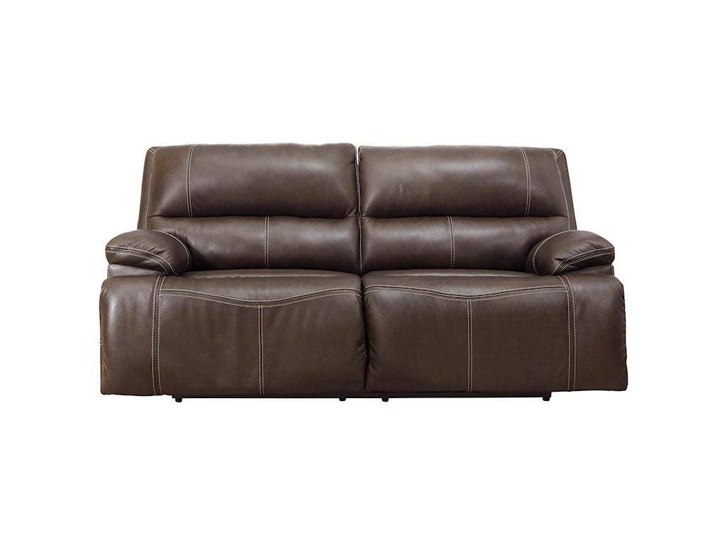 Signature Design by Ashley Ricmen2-Seat Power Reclining Sofa w/ Adj Headrests