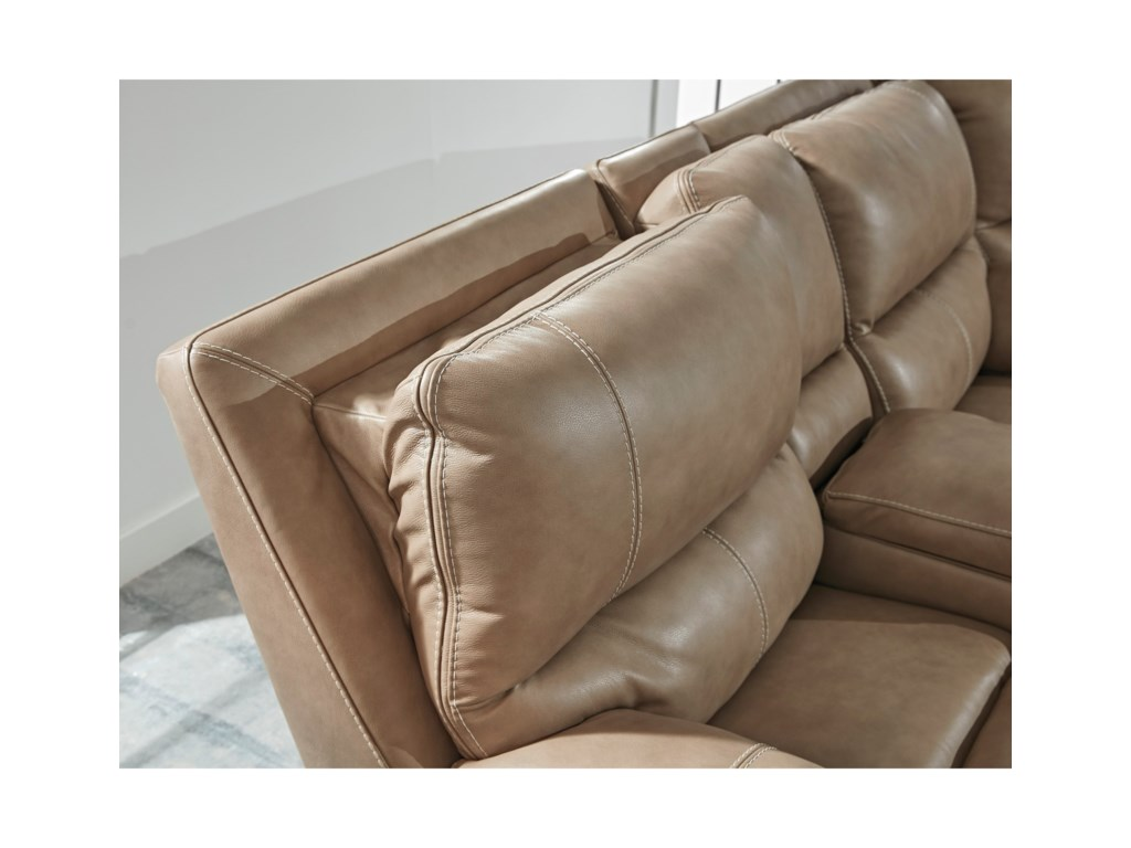 Signature Design by Ashley RicmenPower Reclining Loveseat w/ Adj. Headrests